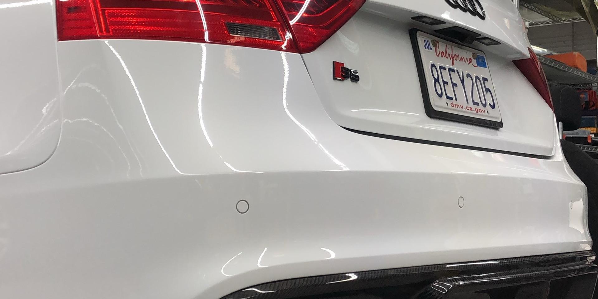 Audi S5 rear end assembled