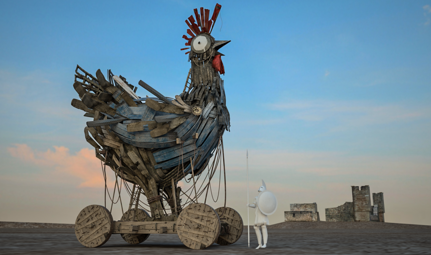 IHOP Trojan Chicken | Concept Art