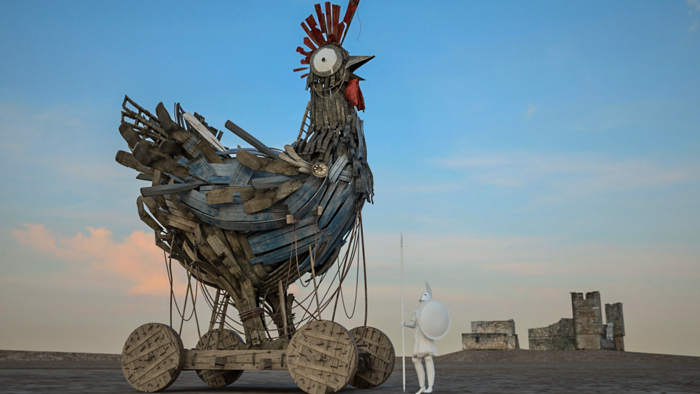 IHOP Trojan Chicken | Concept Art