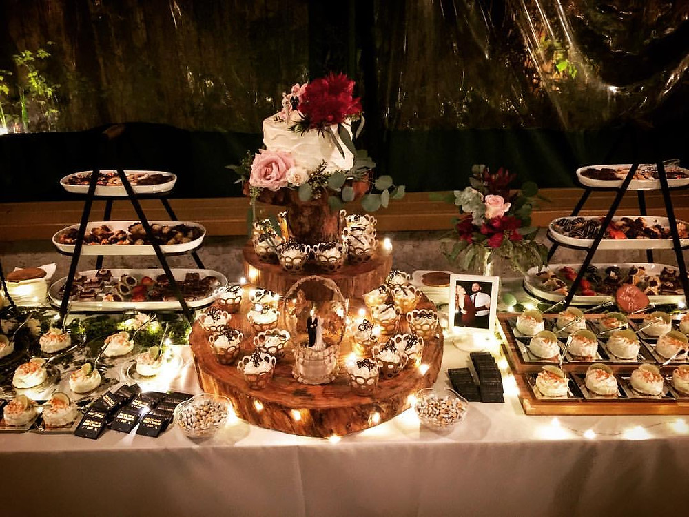 Sweets Tables with Rustic and Romantic Wedding Touches!