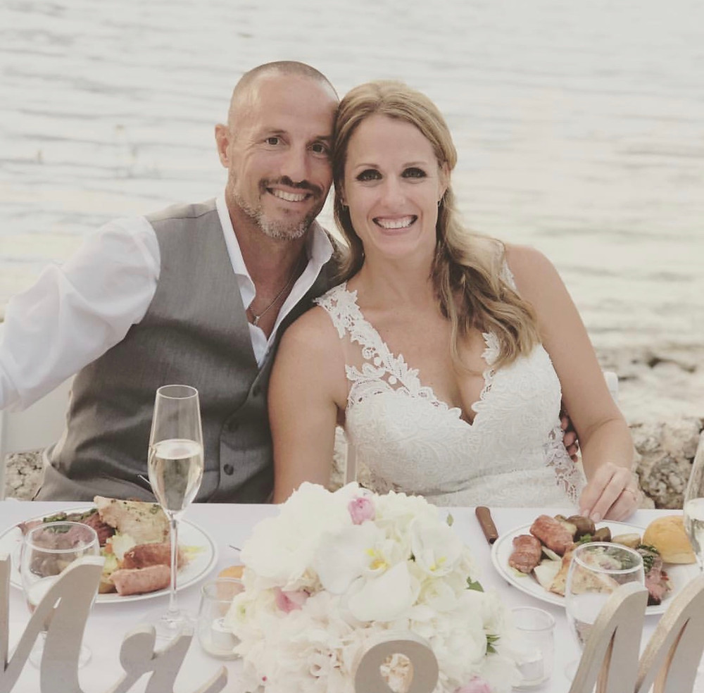 Melanie & Sebastian at their Keys Wedding