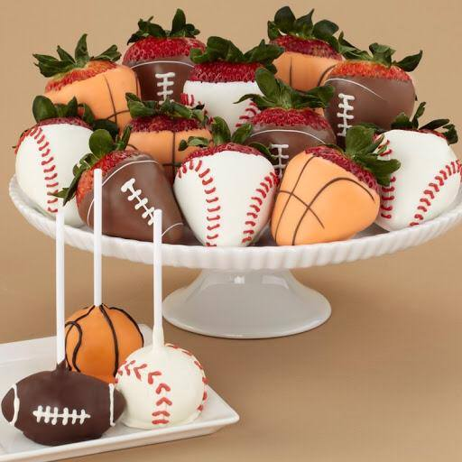 sports strawberrie dipped chocolate