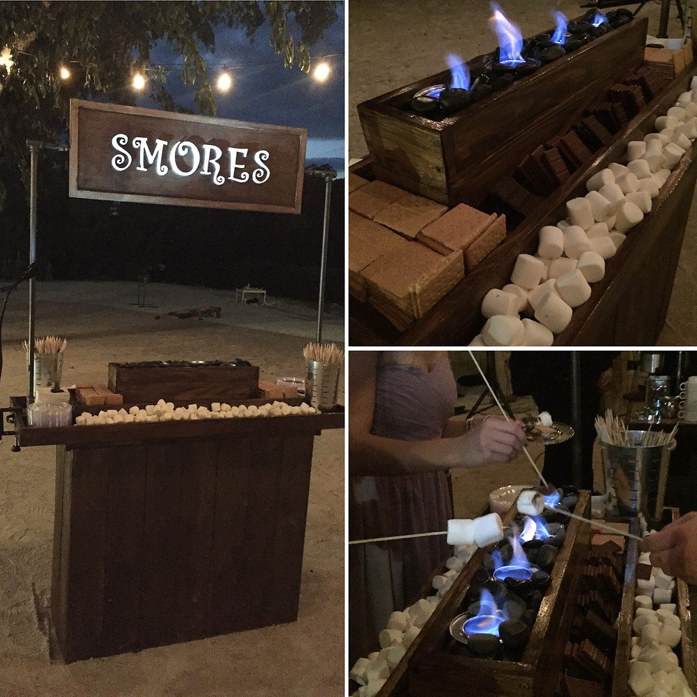 S'mores bar for weddings!