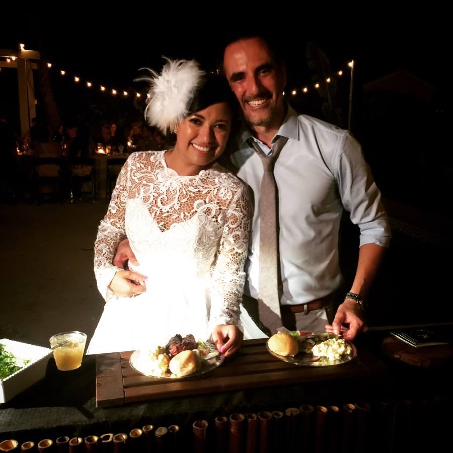 backyard wedding vibes with steakhouse dinner by Yummy Chori
