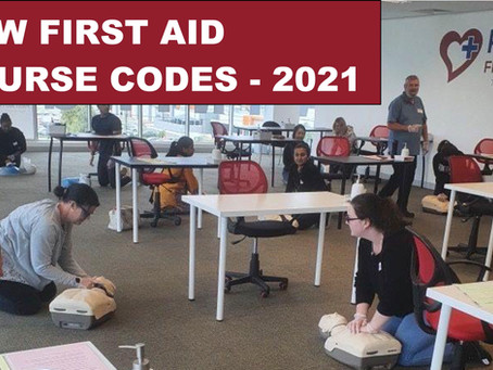 Important Changes to First Aid Training Course Codes from July 2021