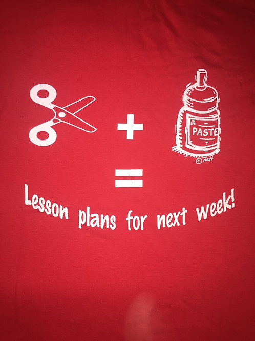 Red - Lesson plans for next week