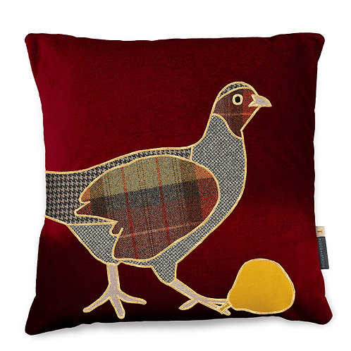 Buckley and Booth Pershore Partridge Special Edition cushion Christmas 2020