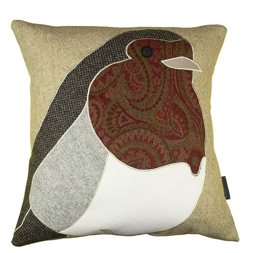 Buckley and Booth Sherwood Robin handcrafted wool cushion