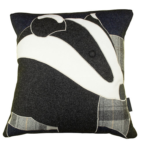 Buckley and Booth Bowland Badger luxury interior cushion gift