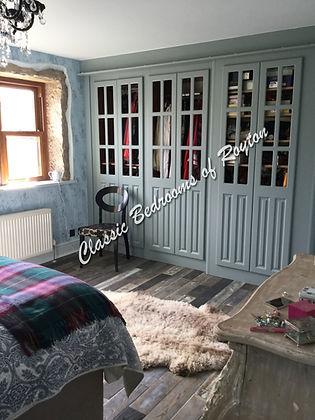 open frame classic door wardrobe in sky blue