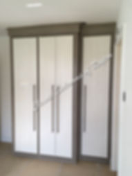 white hasi classic smooth door on driftwood wardrobe