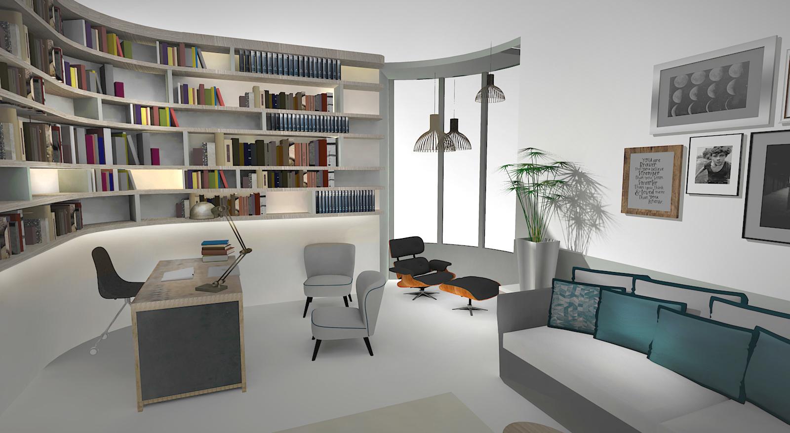 Projet Moncey - Bureau 3D
