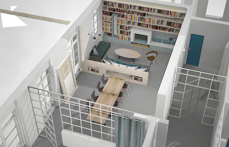 Projet Moncey - Projeté 3D