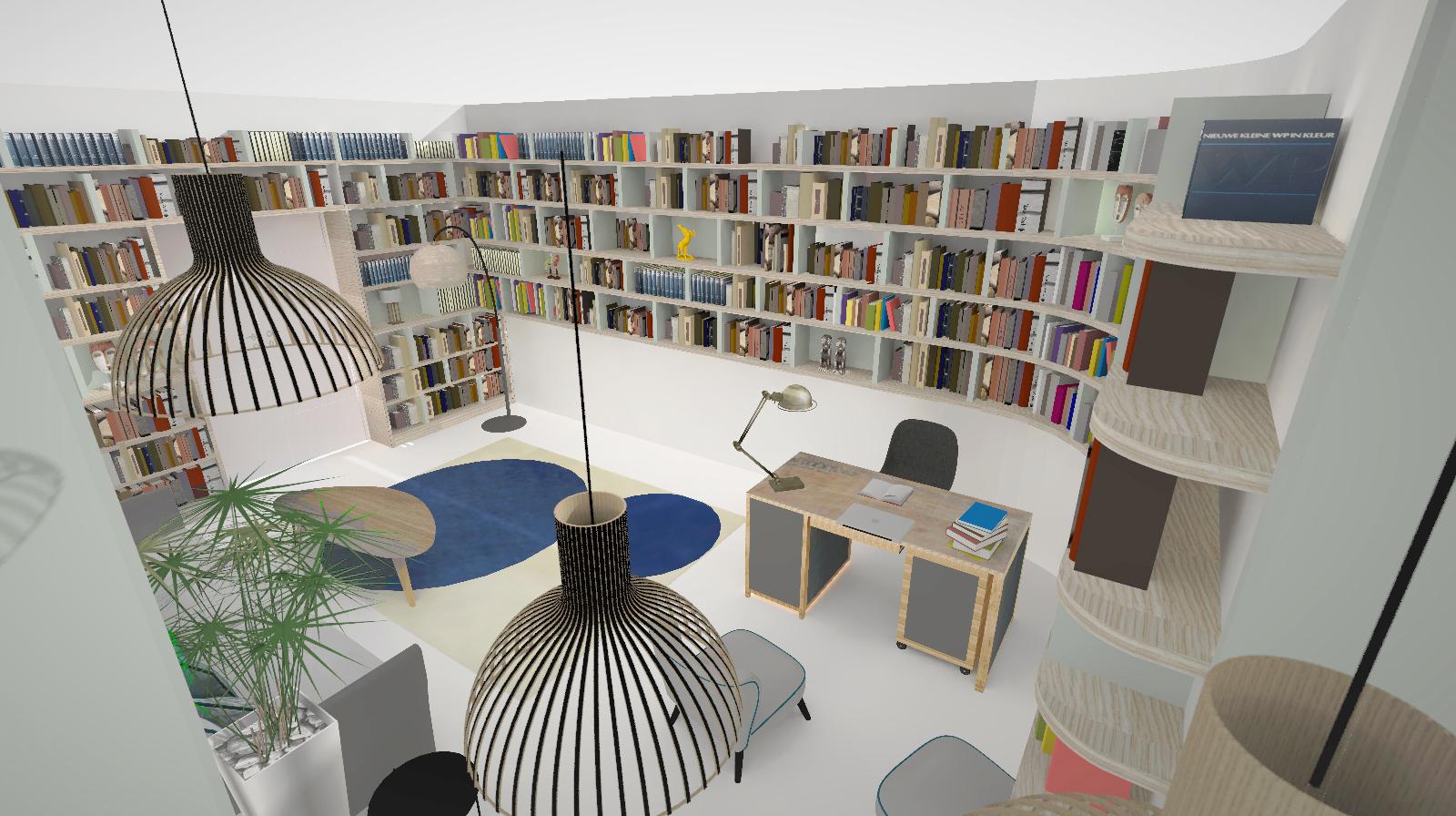 Projet Moncey Bureau projeté 3D
