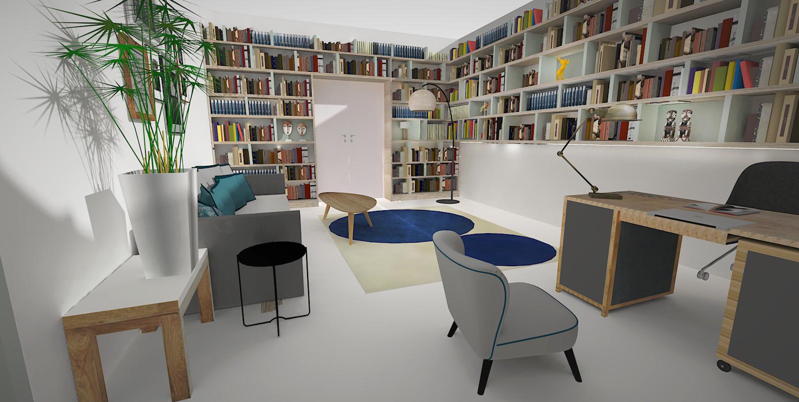 Bureau 3D projeté