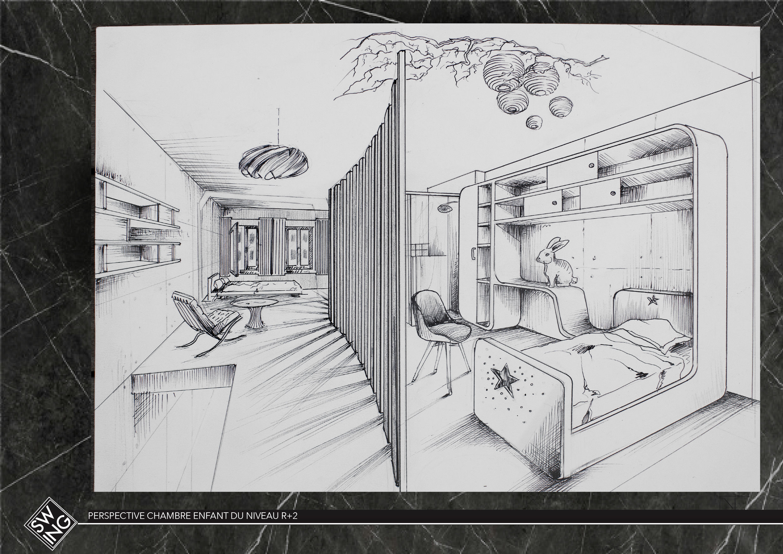 Copernic, chambres R+2