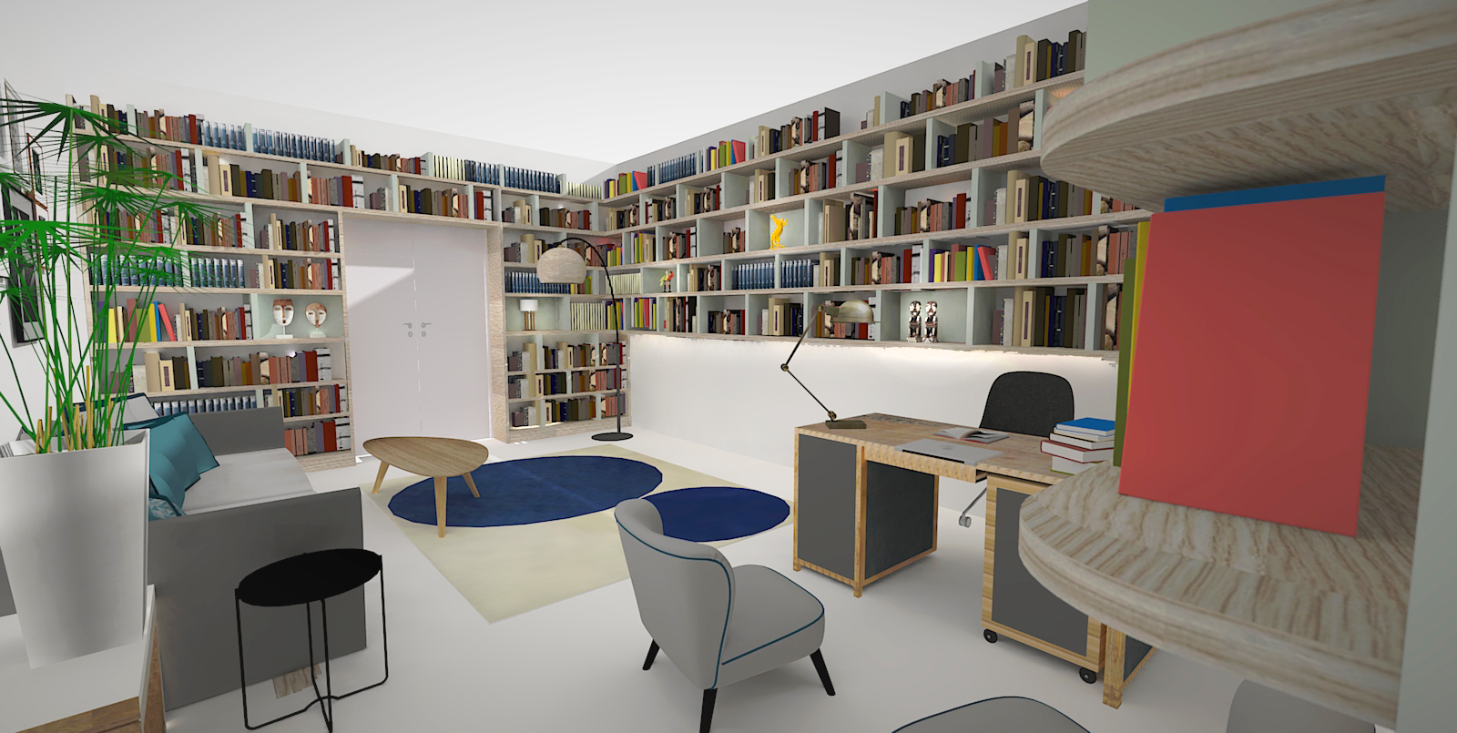 Bureau projeté 3D