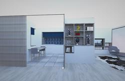 Cuisine_séjour projeté 3D