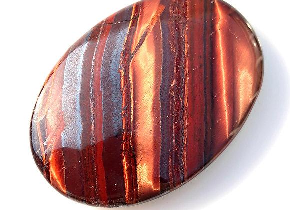 Red Tiger Eye Palm Stone XL