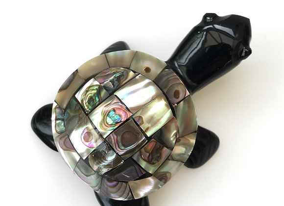 Obsidian and Abalone Turtle