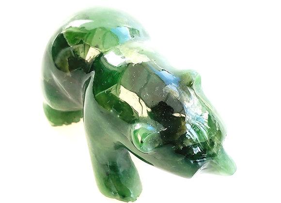 Nephrite Jade Mamma Bear
