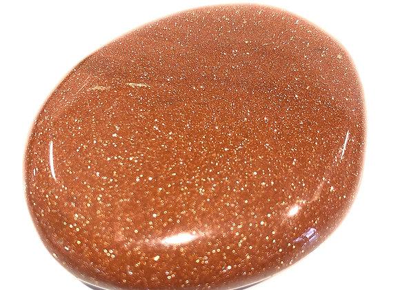 Gold Starstone Palm Stone