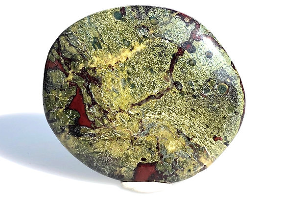 Dragon Blood Jasper Palm Stone