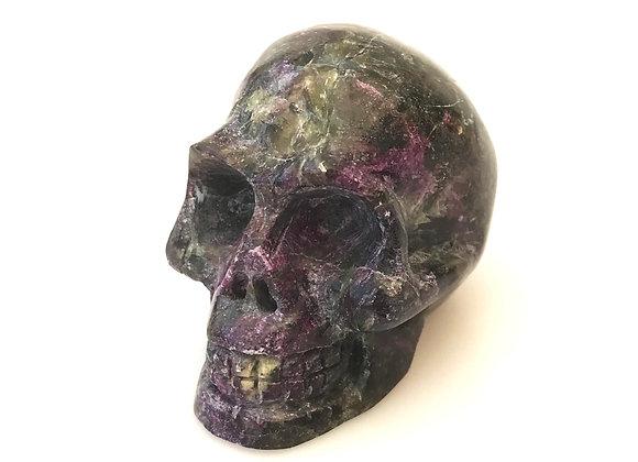 Serpentine and Stichtite Skull