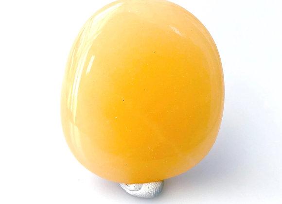 Yellow Calcite Palm Stone