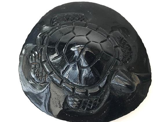 Tektite Turtle Carving
