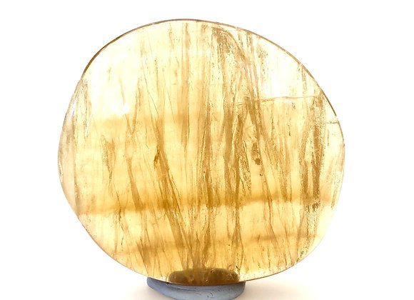 Yellow Fluorite Palm Stone