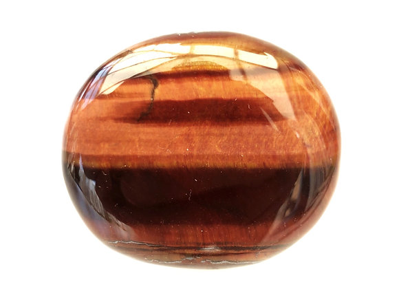 Red Tiger Eye Palm Stone