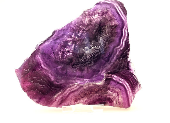 Purple Fluorite Slice