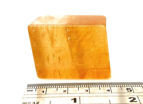 Honey Calcite Rhombus