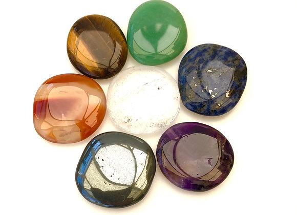 Chakra Palm Stones Set