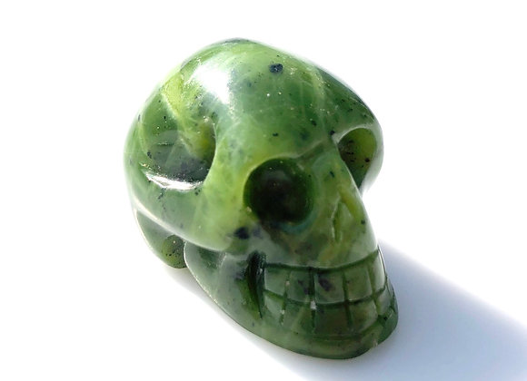 Nephrite Jade Skull