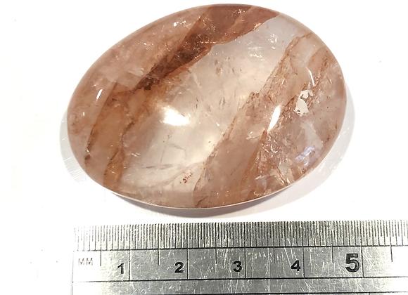 Hematoidal Quartz Palm Stone