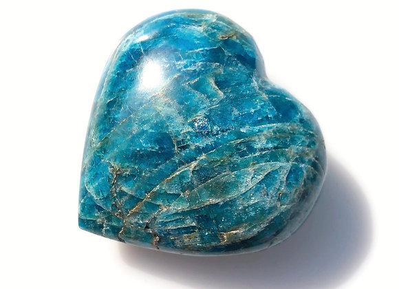 Blue Apatite Puff Heart