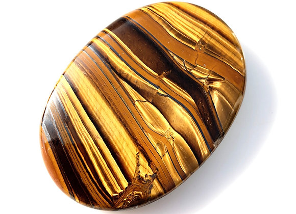 XL Tiger Eye Palm Stone