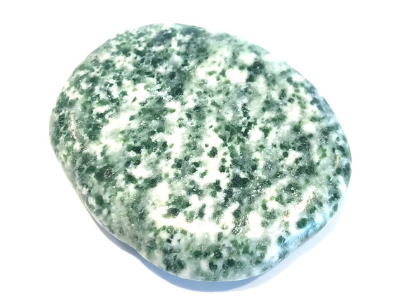 Green Spot Jasper Palm Stone
