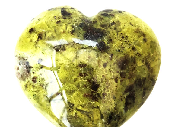 Green Opal Puff Heart