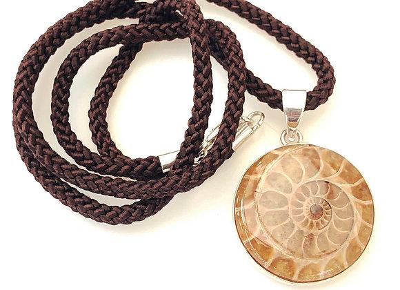Ammonite Pendant 925 Set
