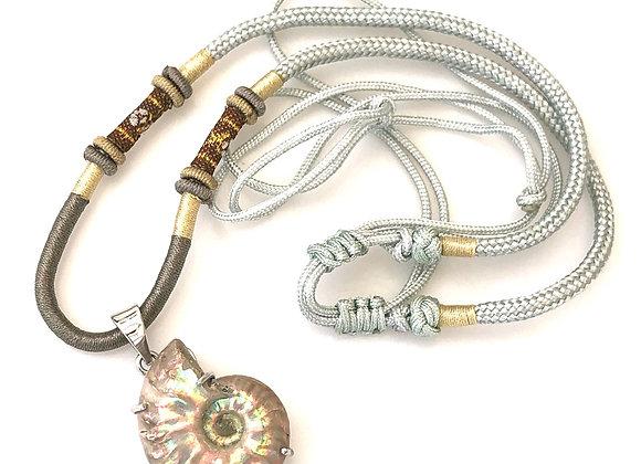 Ammonite Desmoceras 925 Pendant