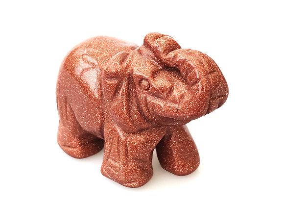 Gold Starstone Elephant