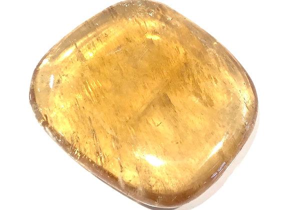 Honey Calcite Palm Stone