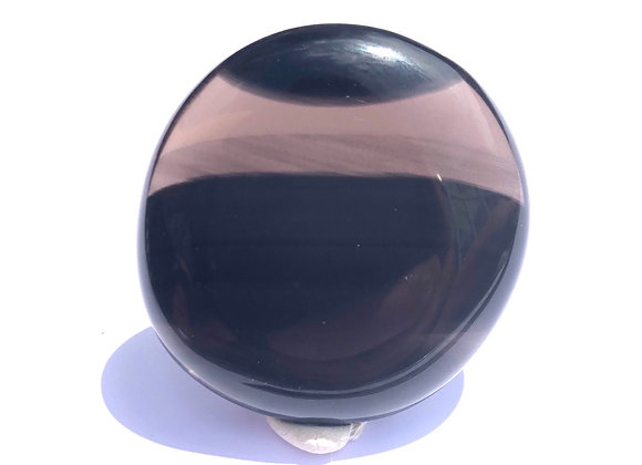 Flow Obsidian Palm Stone