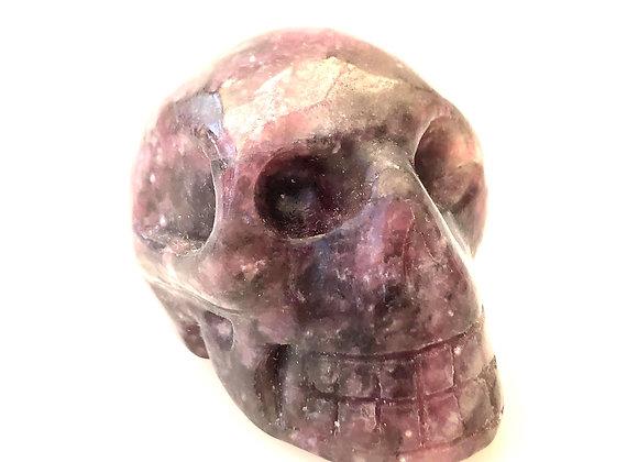 Lepidolite Skull