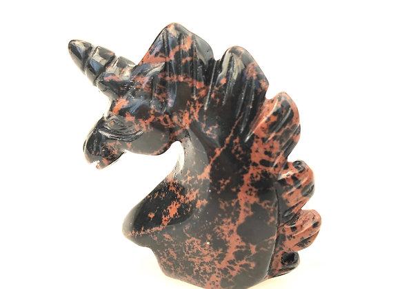 Mahogany Obsidian Unicorn
