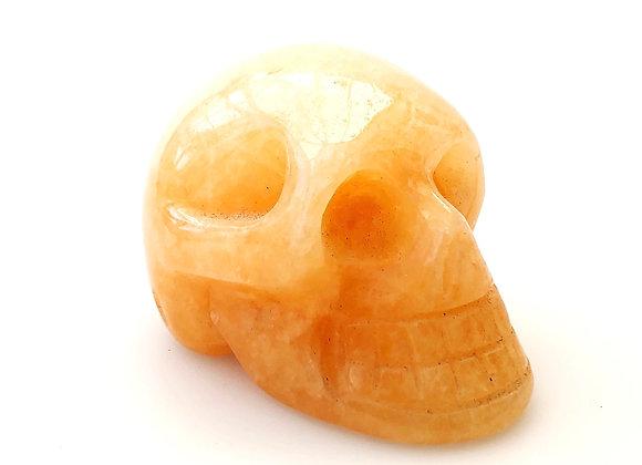 Yellow Calcite Skull