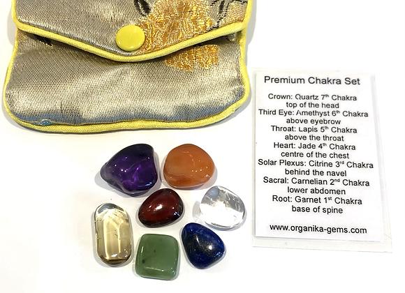 Premium Chakra Stones & Pouch